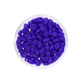 SuperDuo™ / glass beads / 2.5x5mm / Opaque / Cobalt / 10g / ~140pcs