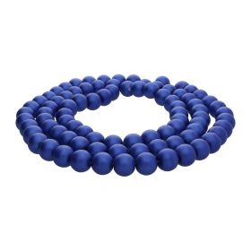 SeaStar™ satin / round / 10mm / indigo / 85pcs