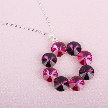 Fuchsia Wreath Necklace
