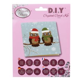 Beads Direct 'Christmas Owls' Crystal Card Kit