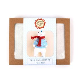 Corinne Lapierre Mini Polar Bear Felt Craft Kit
