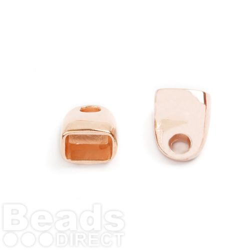 Rose Gold Plated Zamak Cord Ends 13x16mm for 7x10mm Cords Pk2
