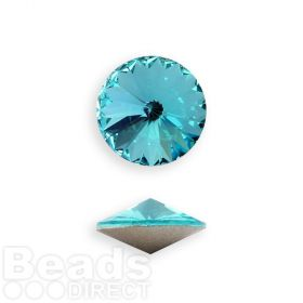 1122 Swarovski Crystal Rivoli SS47 (10.5mm) Light Turquoise F Pk2