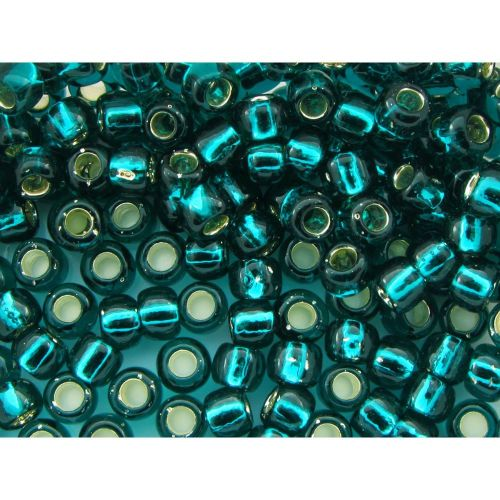 TOHO ™ / Round 6/0 / Silver-Lined / Teal / 10g / ~ 160pcs