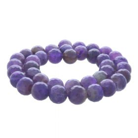 Amethyst / faceted round / 12mm / 90pcs