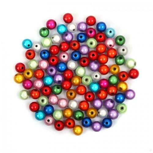 Multi Colour Miracle Illusion Bubblegum Round Beads 10mm Pk100