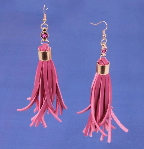 Fuchsia Tassel Earrings