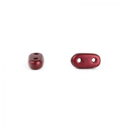 X- Preciosa Twin Hole Bar Beads Matte Dark Red 3x6mm 5g