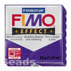 Staedtler Fimo Effect Polymer Clay Glitter Purple 56g (1.97oz)