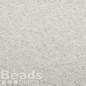 Toho Size 15 Round Seed Beads Opaque-Lustered White 10g