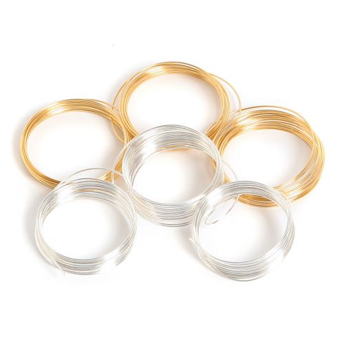 Assorted Gold Plated & Silver Plated Copper Craft Wire