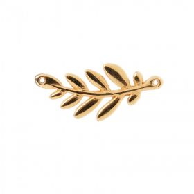 Gold Plated Zamak Olive Branch Connector Charm 37x17mm Pack 1