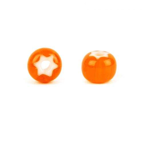 Preciosa Pressed Cornelian Star Orange 6mm 10g (approx. 30)