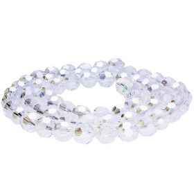 CrystaLove™ / glass crystals / round / 3mm / crystal AB / 200pcs