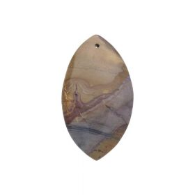 Brown jasper / pendant / marquise / 58x33x6.5mm / 1pcs