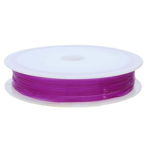Silicone rubber / spool / 0.7mm / violet / 11m