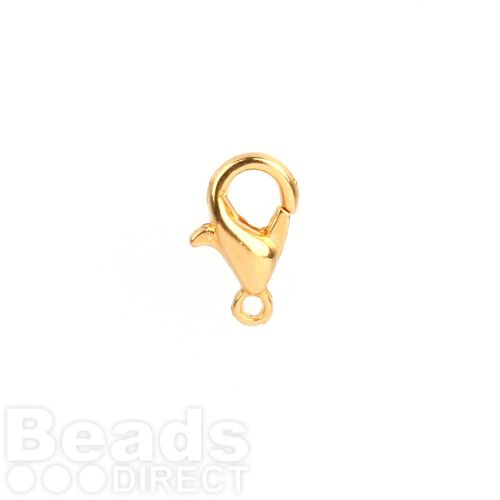 Gold Plated Lobster Clasp 5x10mm Pk5