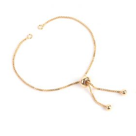 Gold Plated Adjustable Ball Slider Chain 11.5cm Pk1