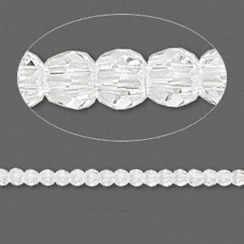 5000 Swarovski Crystal Faceted Rounds 3mm Clear Pk12