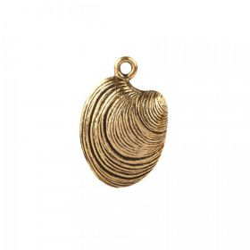 Nunn Design Antique Gold Shell Charm 15x18mm Pk1