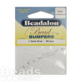 Beadalon Bead Bumpers Clear 1.5mm Pk50