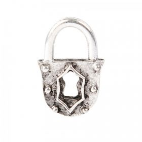 Nunn Design Antique Silver Small Padlock Charm 12x18mm Pk1