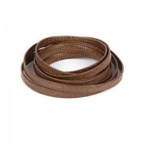 Brown Flat 4mm Woven Cord 1 Metre Length