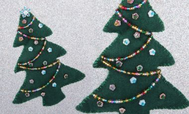 Padded Christmas Tree Decoration