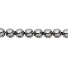 5810 Swarovski Glass Pearls 6mm Dark Grey Pk50