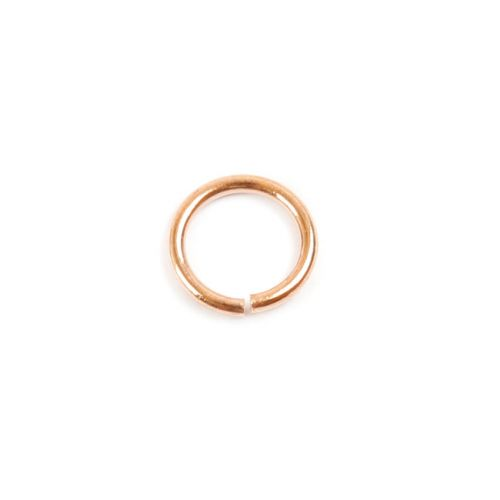 Rose Gold Plated Brass Jump Rings 8mm 1mm gauge Pk100