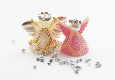 12 Designs of Christmas Day 6 - How to Make a Beaded Angel - Handmade Christmas Ornaments