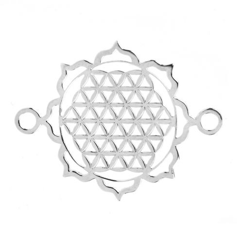 """X"" Sterling Silver 925 Filigree Criss Cross Connector 24mm Pk1"
