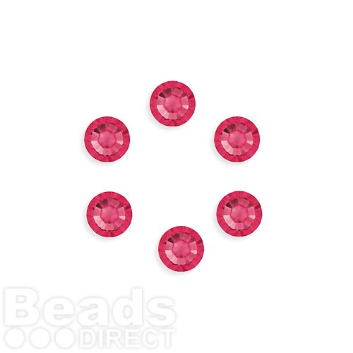 2088 Swarovski Crystal Flat Backs SS34 7mm Indian Pink F Pk6