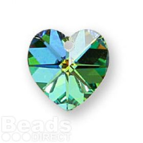 6228 Swarovski Crystal Hearts 10mm Vitrial Medium Pk2