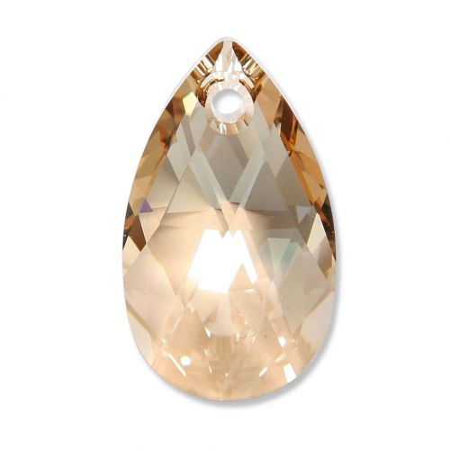 6106 Swarovski Drop Pendant 28mm Golden Shadow Pk1