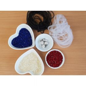 Crystal Mesh Kit With Clasps Blue/Red