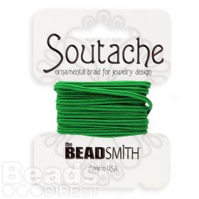 Dragon Green Polyester Soutache Cord Beadsmith 3yds
