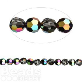 5000 Swarovski Crystal Faceted Rounds 4mm Crystal Scarabaeus Green Pk12