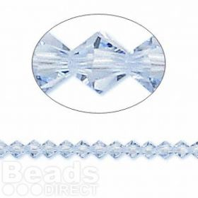 5328 Swarovski Crystal Bicones Xillion 4mm Light Sapphire Pk24