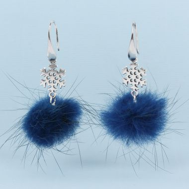 Fluffy Snowflake Earrings
