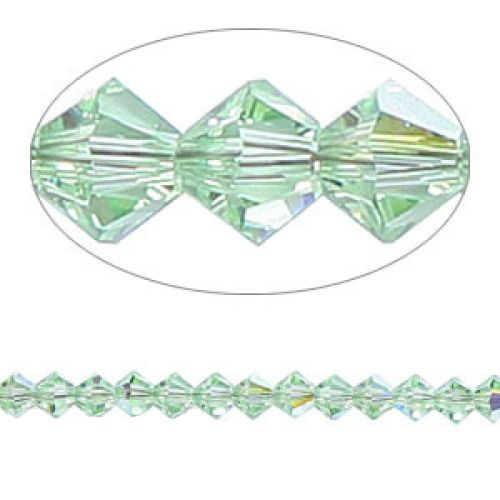 5328 Swarovski Crystal Bicones Xillion 4mm Chrysolite AB Pk24