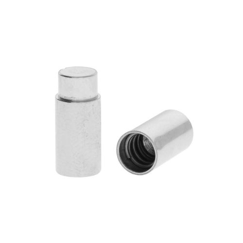 TwistOn / clasp / surgical steel / 23x7x7mm / silver / hole 6.1mm / 1pcs