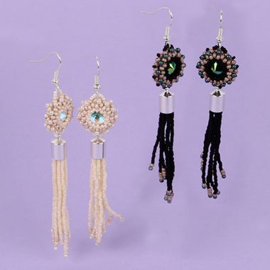 Bezel Tassel Earrings | Take a Make Break