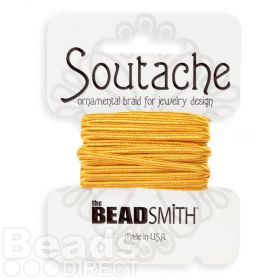 Golden Rod Rayon Soutache Cord Beadsmith 3yds