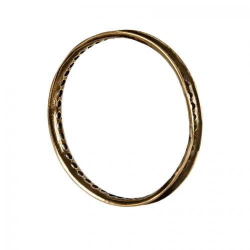 Antique Brass Round Bead Frame 30mm Pk1