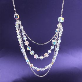 Moonlight Crystal Necklace Made with Swarovski TAMB Kit - Makes x1