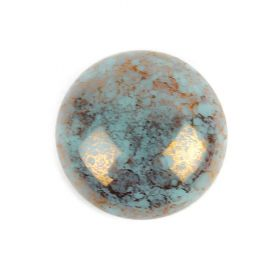 Par Puca Small Cabochon 18mm Opaque Aqua Bronze Pk1