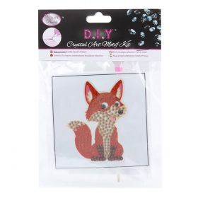 Craft Buddy Crystal Motif Kit 'Cheeky Fox' with Tool
