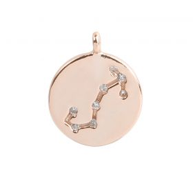 Rose Gold Plated Scorpio Constellation Zodiac Charm 11mm Pk1