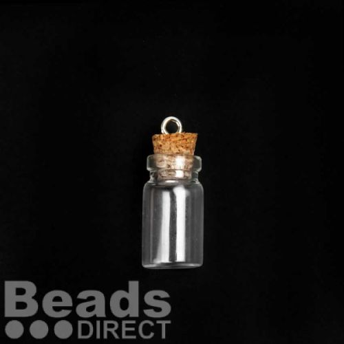 Glass Bottle with Cork 10x22mm Sold Singly